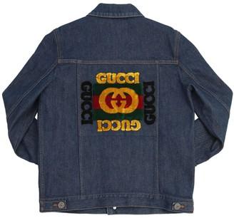 Gucci Embroidered Cotton Denim Jacket