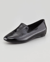 Eileen Fisher Court2 Patent Smoking Slipper, Black