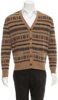 Polo Ralph Lauren Patterned Suede-Trimmed Cardigan