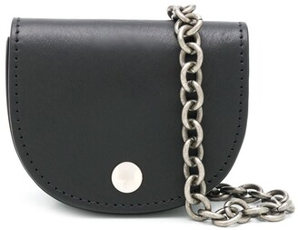 Ann Demeulemeester Vegtan chain-strap messenger bag
