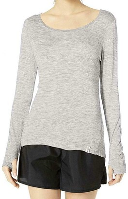 Andrew Marc Women's Long Sleeve tee Shirt with Keyhole Back