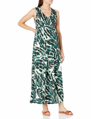 Everly Grey Women's Maternity Valeria Maternity & Nursing Sleeveless Goddess Maxi Dress