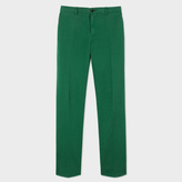 Paul Smith Men's Slim-Fit Green Garment-Dye Pima-Cotton Stretch Chinos
