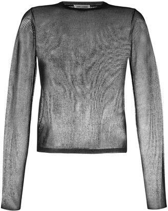 Saint Laurent Sheer Open Knit Jumper