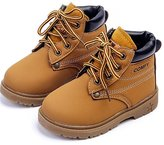 DADAWEN Baby's Boy's Girl's Classic Lace-Up Waterproof Outdoor Hiking Winter Boots (Toddler/Little Kid) - 12 US