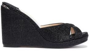 Jimmy Choo Almer 105 Lame Wedge Sandals