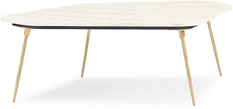 Caracole Geo Modern Coffee Table - White Marble
