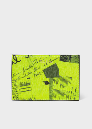 Paul Smith Lime Green 'Show Collage' Leather Card Holder