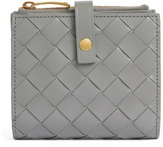 Bottega Veneta Mini Leather Intrecciato Wallet