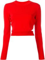 Thierry Mugler cropped sweatshirt - women - Polyamide/Spandex/Elastane/Viscose - M