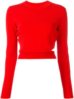 Thierry Mugler cropped sweatshirt