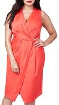Rachel Roy Plus Size Women's Surplice Sheath Dress