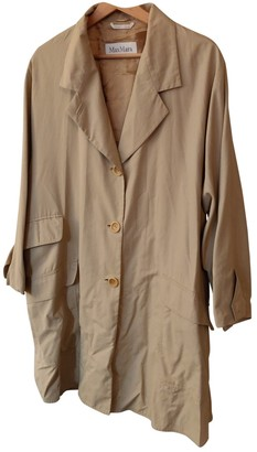 Max Mara Beige Cotton Trench Coat for Women