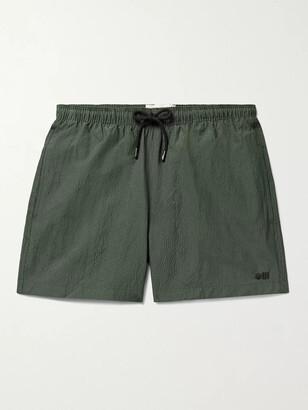 Solid & Striped The Classic Mid-Length Seersucker Swim Shorts - Men - Green