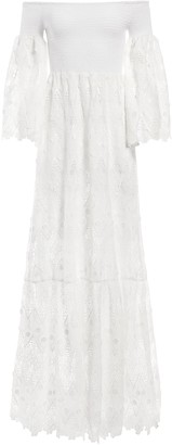 Alice + Olivia Roseline Off Shoulder Maxi Dress