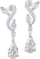 De Beers 18kt white gold Adonis Rose diamond pendant earrings