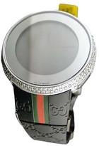 Gucci Custom White Full I Digital 6 Ct Diamond Watch