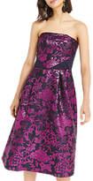 Oasis Kimono Jacquard Bandeau Dress, Pink/Black