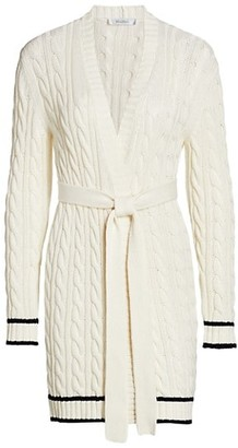 Max Mara Sorbona Long Cable Cardigan