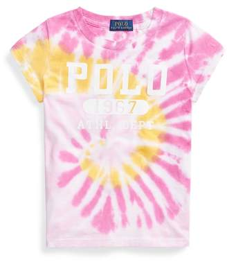 Ralph Lauren Tie-Dye Cotton Graphic Tee