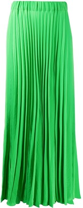 P.A.R.O.S.H. High-Rise Pleated Maxi Skirt