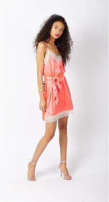 Miguelina Charlotte Scalloped Lace Slip Dress - Happy Pill