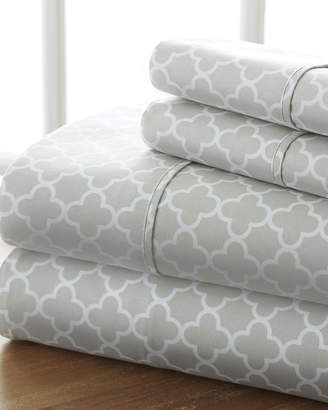 IENJOY HOME Puffed Chevron 4-Piece Bed Sheet Set, Full
