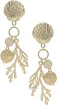 Ettika Coral Shell Drop Earrings