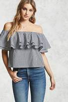 Forever 21 FOREVER 21+ Gingham Off-the-Shoulder Top