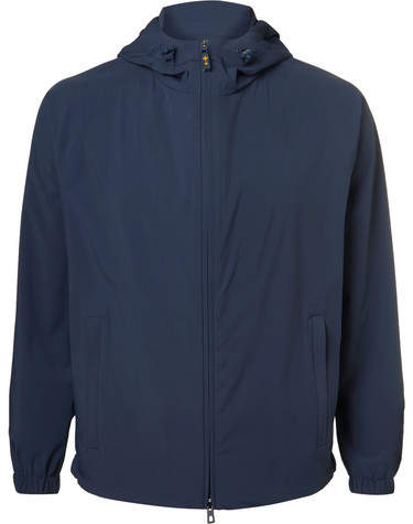 Loro Piana MatchPlay Rain System Shell Hooded Golf Jacket - Navy