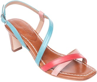 Bernardo Leather Strappy Mid-Heel Sandals - Charlotte