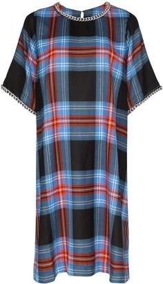 Charles Jeffrey Loverboy chain-trim tartan dress