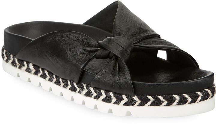 J/Slides Lilia Knotted Leather Slide Sandals