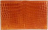 Valextra Alligator Folding Card Case