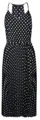 Dorothy Perkins Womens **Black Spot Print Pleated Midi Dress, Black