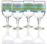 Fiesta Lapis Stripe Set of 4 Goblets