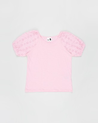 Cotton On Girl's Pink Short Sleeve Tops - Isabella Puff Sleeve Top - Kids-Teens - Size 3 YRS at The Iconic