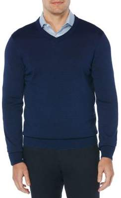 Perry Ellis V-Neck Cotton-Blend Sweater