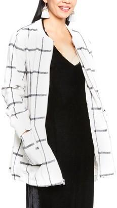 Cupcakes And Cashmere Women's Belva Plaid Print Dolman Sleeve Coat