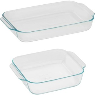 Pyrex Basics Glass Bakeware Set Value Pack, 2 Piece