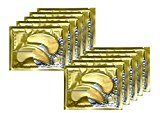 Smyrna Anti-Aging, Anti Wrinkle 24k Gold Collagen Eye Pads Patches, Eye Mask - Repair and Moisturize Puffy Eyes, Dark Circles (10 Pairs)