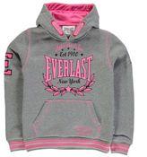 Everlast Kids Large Logo Girls Hoody OTH Hoodie Long Sleeve Hooded Casual Top