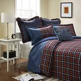 Simple Simple&Opulence 3 Piece Blue and Red Grid Denim Cotton and Flannel Duvet Cover Sets Including 1 Duvet Cover and 2 Pillow Cases(Queen, Blue and Red)