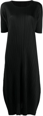 Pleats Please Issey Miyake Micro-Pleated Midi Dress
