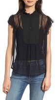 Hinge Women's High Neck Lace Top