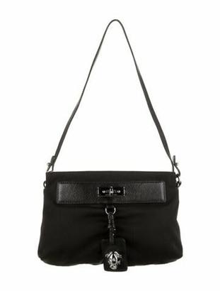 Marc Jacobs Leather-Trimmed Shoulder Bag Black