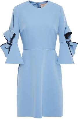 Roksanda Ricciarini Ruffle-trimmed Bow-embellished Stretch-crepe Mini Dress