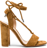Gianvito Rossi Suede Lace Up Heels