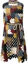 Rosetta Getty patchwork crochet poncho