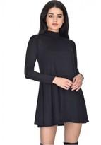 AX Paris Black Knitted Mini Swing Dress